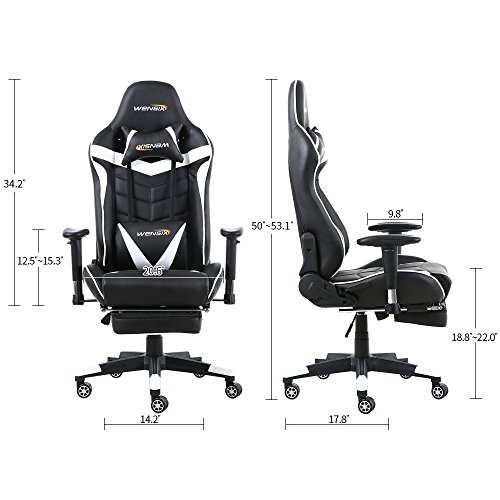 Wensix Gaming Chair With Headrest High Back Ergonomic