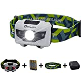 BetLight 4 Modes LED Headlamp/Headlight,Package with Batteries,Replacement Band, Packing Box (Black)