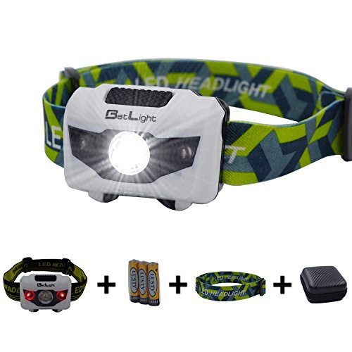 BetLight 4 Modes LED Headlamp/Headlight,Package with Batteries,Replacement Band, Packing Box ()