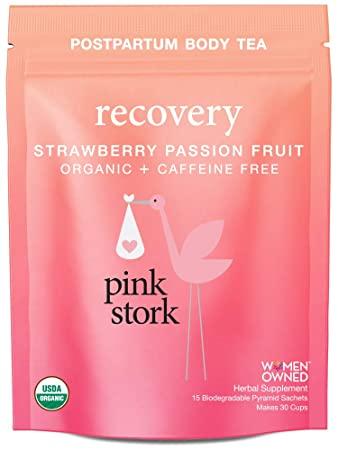 Pink Stork Recovery: Strawberry Passionfruit Postpartum Body Tea -USDA  Organic Loose Leaf Herbs in