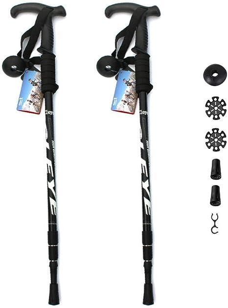 Regolabile in Altezza in Alluminio palo Trekking Passeggiate Espandibile per Lescursione del Campeggio Escursionismo YH600 Nordic Walking Stick