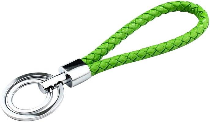 Geflochtene Schlüssel  Schlüsselanhänger Schlüsselband Leder Schlüsselring Neu