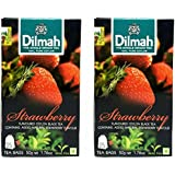 Dilmah Strawberry Flavoured Tea, 50g (Pack of 2)