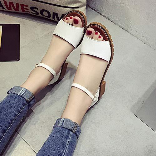 se Gruesos Tacones ora Verano Zapatos Mujeres Zapatos Zapatos de Zapatos de Low Elegantes Tobillo Correa Heels Las Toes de Bombas del de Sandalias Gruesos Tacones Peep de w1BxvgI1zq
