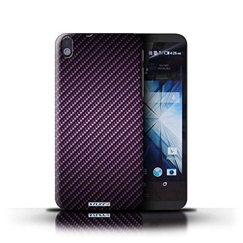 Kobalt® Imprimé Etui / Coque pour HTC Desire 816 / Pourpre conception / Série Motif de Fibre de Carbone