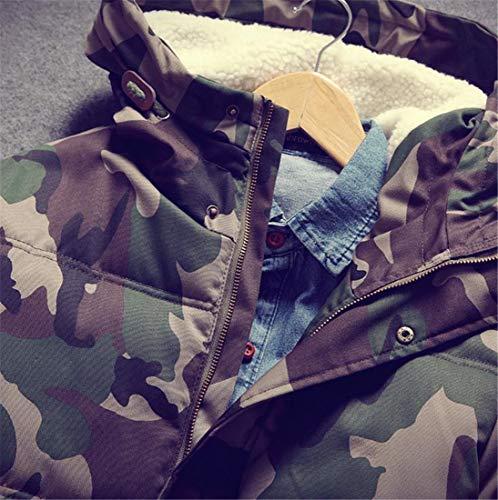 Invernale Verde Uomini amp; Trapuntato Parka Cappotto Piumino Militare Caldo E Mimetico H Gli Cappotto qXtpfWw4f7