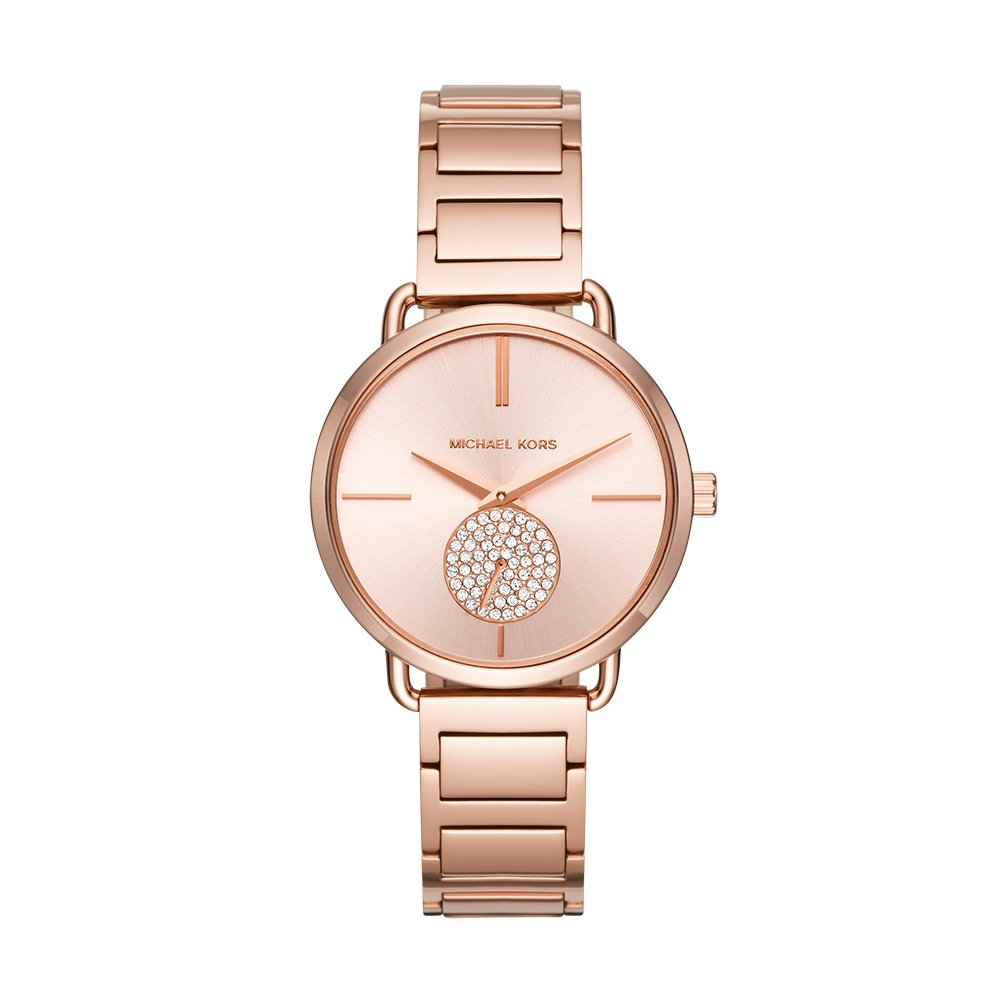 dba54913b047 Amazon.com  Michael Kors Women s Portia Rose Gold-Tone Watch MK3640  Watches
