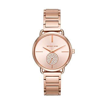 dd5510118fd9 Amazon.com  Michael Kors Women s Portia Rose Gold-Tone Watch MK3640 ...