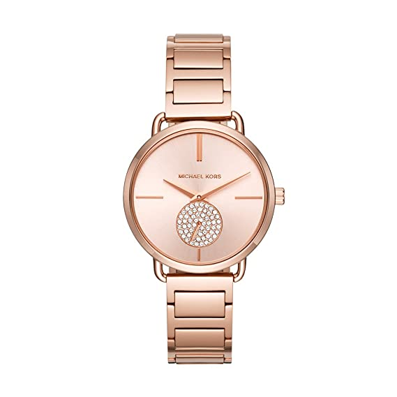 cf917c5304f6 Michael Kors Women s Portia Rose Gold-Tone Watch MK3640  Amazon.ca ...
