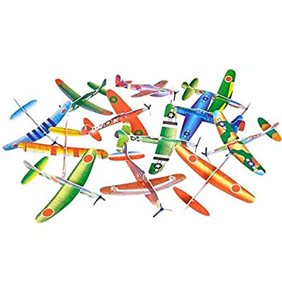 Rhode Island Novelty Foam 8 Inch Flying Glider Planes 48 Piece Assortment: Toys & Games