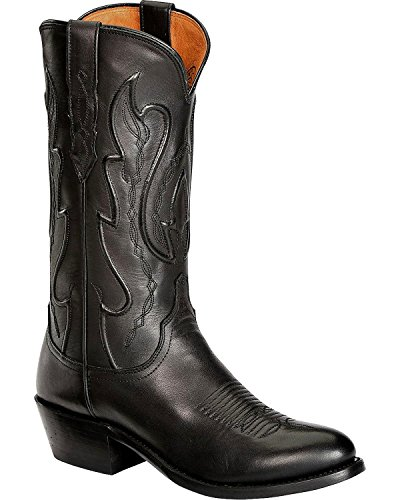 Lucchese Men's Handmade 1883 Cole Ranch Hand Cowboy Boot Medium Toe Black 11 D(M) US