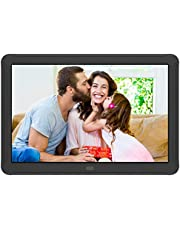 Kenuo Digital Photo Frame 8 Inch 1920x1080 High Resolution 16:9 Full IPS Display Digital Picture Frame Auto-Rotate Image Preview Electronic Picture Frame Video Calendar Clock Support SD Card,USB