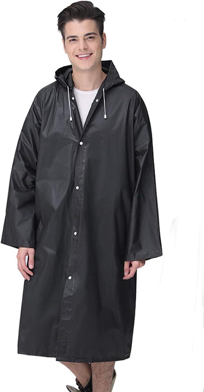 IPENNY Unisex Packable Waterproof Rain Poncho Hooded Raincoat Reusable Rain Jacket