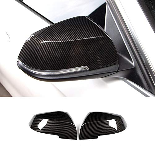 HOTRIMWORLD ABS Carbon Fiber Style Rearview Mirror Frame Trim Cover 2pcs for BMW 3 Series 4 Series F30 F31 F32 F34 2013-2018