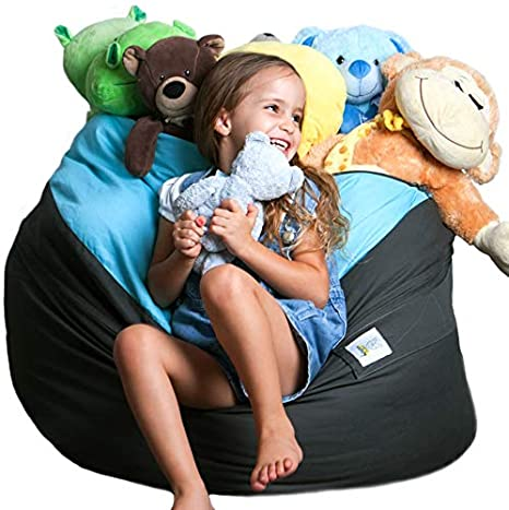 Astounding Smart Wallaby Bean Bag Stuffed Animal Storage 2 Sizes In 1 Xxl Jumbo Ottoman For Soft Toys Plush Toys Giant Pouf Organizer For Linens Quilts Ibusinesslaw Wood Chair Design Ideas Ibusinesslaworg
