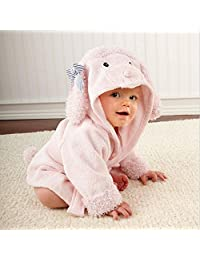 hibote Baby Bathrobe Bath Towel Infant Cotton Blankets Coated Nightgown 0-3years (Dog)