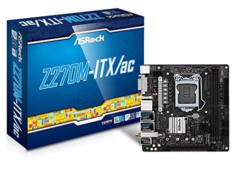ASRock Z270M-ITX/AC LGA1151/ Intel Z270/ DDR4/ SATA3&USB3.0/ M.2/ WiFi/ A&2GbE/ Mini-ITX Motherboard