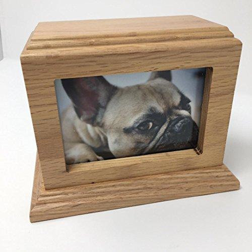Pet Urn Peaceful Pet Memorial Keepsake Urn, Photo Box Pet Cremation Urn,Dog Urn,Cat Urn , Small Animal Urn, Size, Large, Color, OAK, 50 cu.in, 3