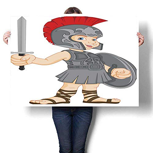 Canvas Prints Wall Art boy Wearing Roman Soldier