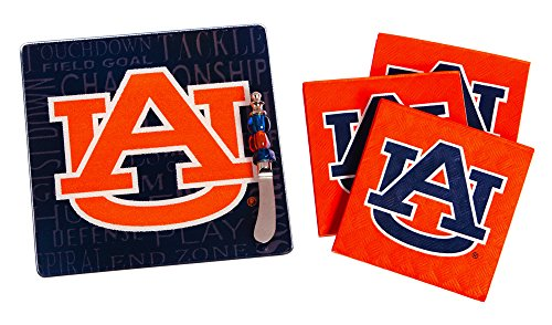 - Team Sports America Auburn Tigers Tailgating Napkin, Spreader and Surface Saver Party Set