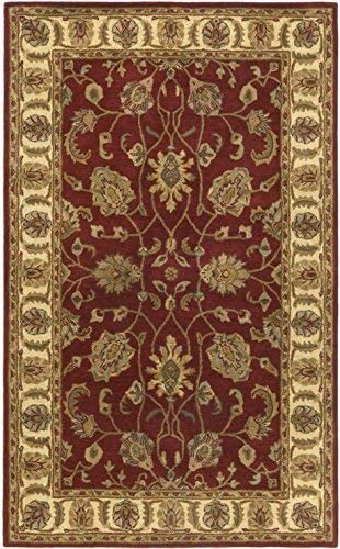Traditions Agra Runner, 2.5-Feet by 8-Feet, Burgundy