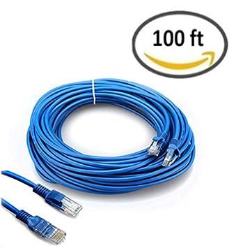 Amazon.com: HUACAM HCM07 Cat5 Patch Cord Cable 100 ft Ethernet Cable ...