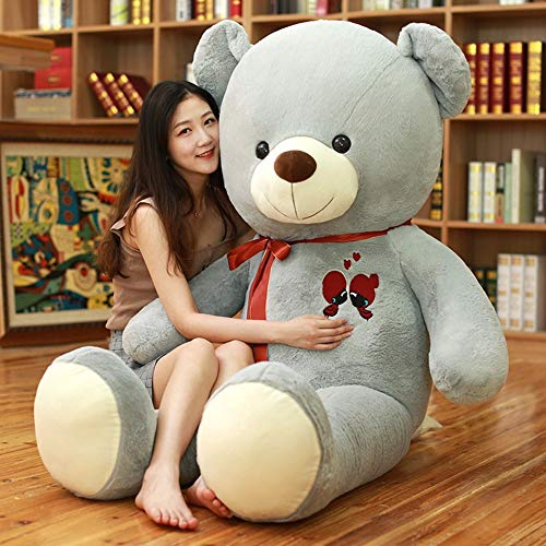 GOONEE Teddy Bear - Large Teddy Bear Plush Toy Lovely Giant Bear Huge Stuffed Soft Dolls Kids Toy Birthday Gift for Girl - 32 Inch Grey - Big Fat Ted Ft Fox in Feet Gigantic A Life Size from GOONEE
