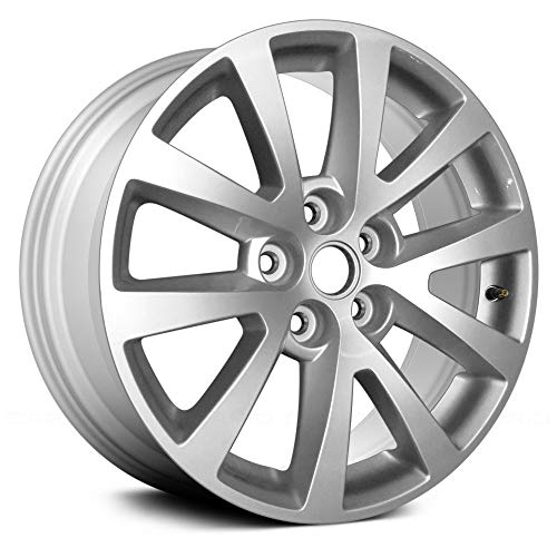 - Replacement Replica 5 Double Spokes All Painted Bright Sparkle Silver Factory Alloy Wheel Fits Chevy Malibu