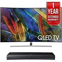 Samsung QN55Q7C Curved 55 4K Ultra HD Smart QLED TV (2017 Model) w/ Samsung 4K Ultra HD Blu-ray Player & 1 Year Extended Warranty