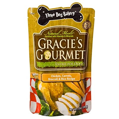 Three Dog Bakery Gracie'S Gourmet Entree For Dogs, 12 Oz