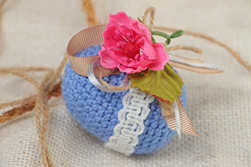 - Handmade Soft Crocheted Easter Egg Made Of Acrylic Yarns Interior Decor