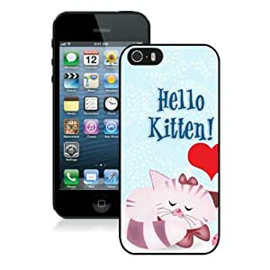 Happy Valentines Day Cute Love Heart Cat Iphone 5 5S Case For Girls And Boys