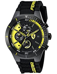Ferrari Mens 0830261 REDREV EVO Analog Display Japanese Quartz Black Watch