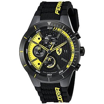 Ferrari Men's 0830261 REDREV Evo Analog Display Japanese Quartz Black Watch