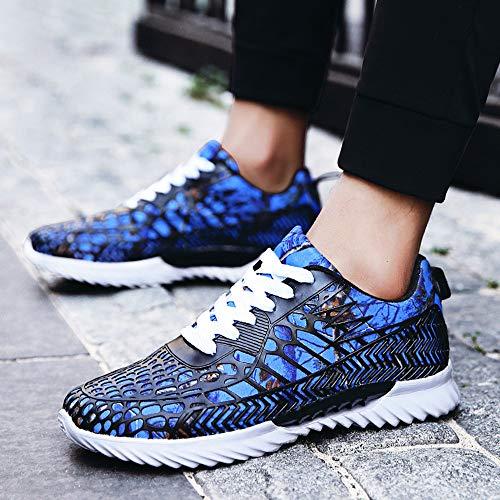 Zapatos Antideslizantes Camuflaje Informales Malla Deporte Portátiles De Otoño Pareja Blue Zapatillas gwgCHfT