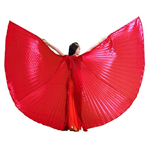 Stick Dance Costume (Pilot-trade Women's Egyptian Egypt Belly Dance Costume Bifurcate Isis Wings Red)