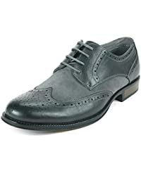 Men's Zurich Wing Tip Oxfords Two-tone Brogue Medallion