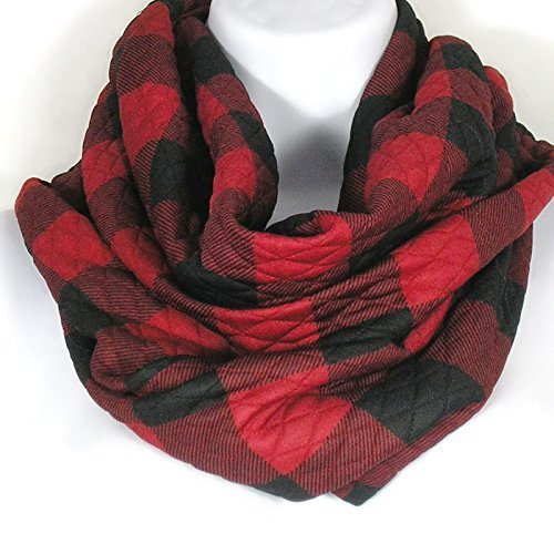 b2a0f6fc4 Red and Black Plaid Scarves Buffalo Check Scarves Unisex Buffalo Plaid  Scarves Men's Scarves Chunky Infinity Scarves Buffalo Check Infinity Scarves  Women's ...