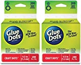 2-Pack - Glue Dots Craft Roll, Contains 200 ( .5 Inch) Adhesive Craft Dots (08165)