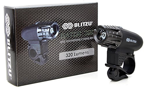 BLITZU Gator 320 USB Rechargeable Bike Light Set Powerful Lumens Bicycle Headlight Free Tail Light, LED Front and Back Rear Lights Easy to Install for Kids Men Women Road Cycling Safety Flashlight by BLITZU (Image #4)