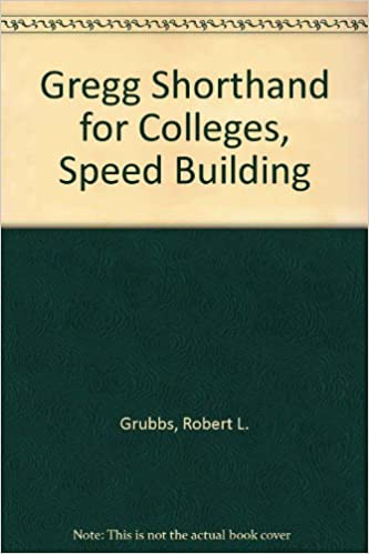 Download Gregg Shorthand For Colleges Speed Building Diamond