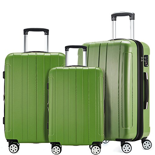 Fochier Luggage 3 Piece Expandable Spinner Set with TSA Lock by FOCHIER F