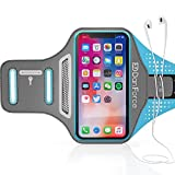 DanForce IPhone X, 8, 8+, 7, 7+, 6S, 6S+, 6, 6+ SPORTS Armband- Fingerprint Touch, Great for Running, Workouts or any Fitness Activity, Unique Hidden Pocket for Stores Cash, Cards and Keys.