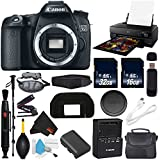 6Ave Canon EOS 70D DSLR Camera (Body Only) International Version (No Warranty) + Epson SureColor P800 Inkjet Printer + 16GB & 32GB SDHC Class 10 Memory Card + Carrying Case Bundle