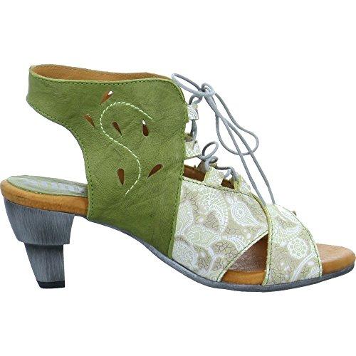 Simen Damen Sandaletten Grau-Grün
