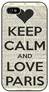 """iPhone 6 (4.7"""") Keep Calm and love Paris - black plastic case / Keep Calm, Motivation and Inspiration"""