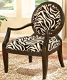 Sophia's Galleria Home Decor Accent Chair, Zebra Print