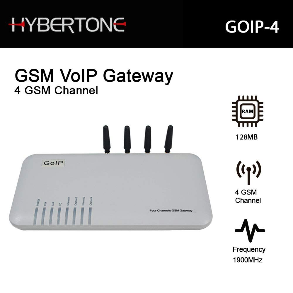 Quad Band GSM 4 Gateway 4 Channel GSM Voip Gateway Goip by Hybertone