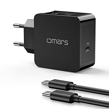 Omars USB C Cargador 30W PD Carga de Energía Carga Rápida ...