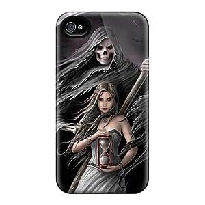 RichardBingley Iphone 4/4s Protector Hard Cell-phone Case Customized HD Grim Reaper Skin [ehP19737otta]